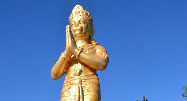 A 50 foot statue was installed at a local Hindu temple (Photos)