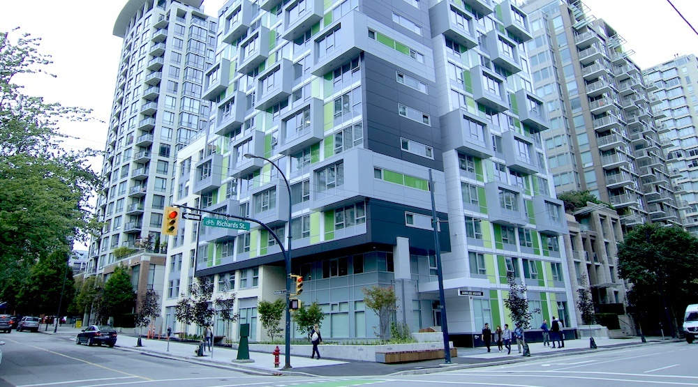 162-unit affordable housing tower in downtown Vancouver reaches completion