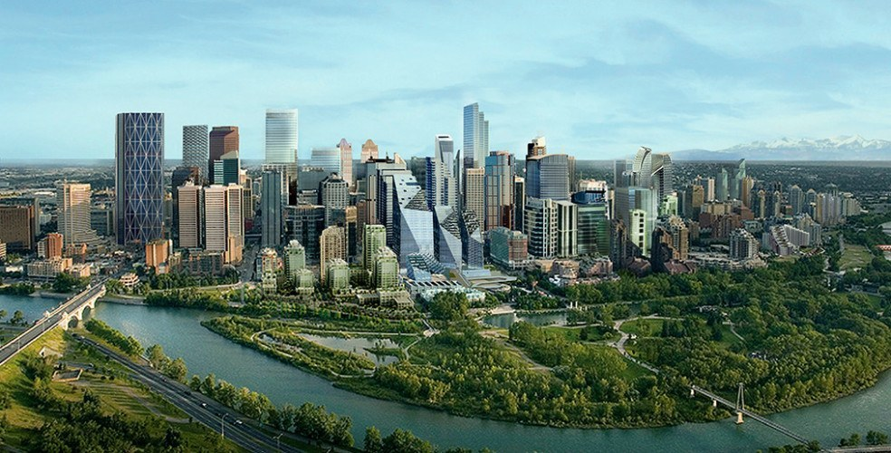 Calgary future skyline render