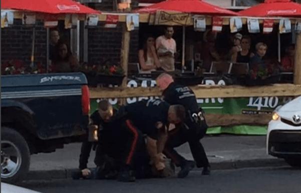 Calgary Police respond to violent takedown during Stampede season