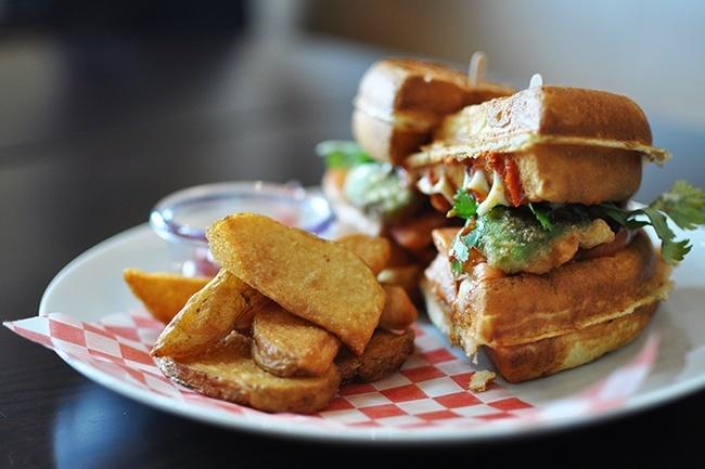 Miura's Baja Waffle (Jess Fleming/Daily Hive)