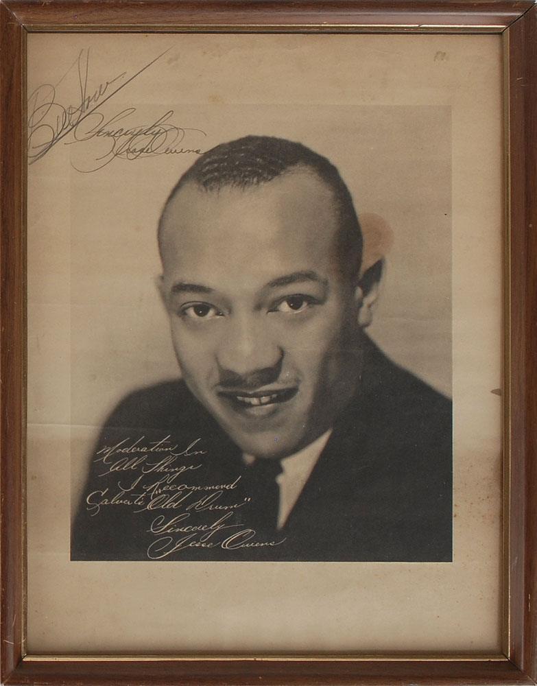 Berlin 1936 Summer Olympics: Jesse Owens Oversized Signed Photograph