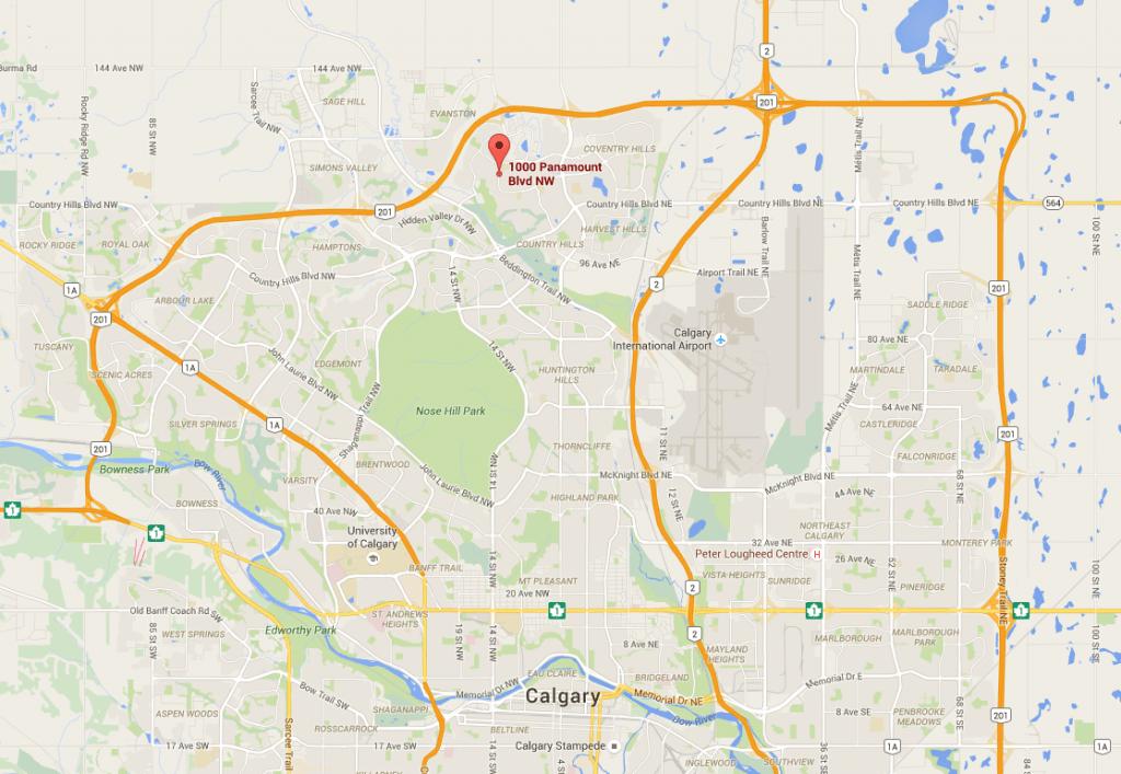 Amber Alert Calgary Map