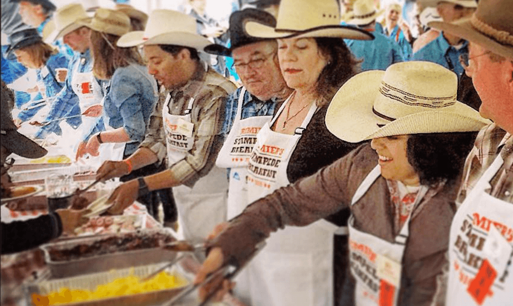 23 photos of Calgary Stampede Breakfasts around town