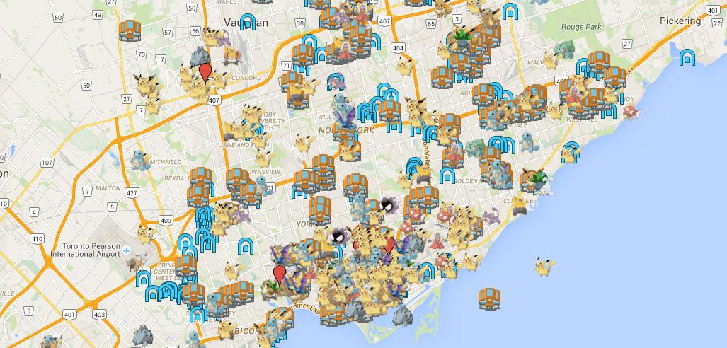Pokemon Go Map Canada This is the definitive Pokémon Go Toronto map | News