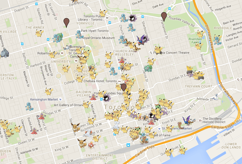 This is the definitive pokmon go toronto map daily hive toronto pokmon go toronto map gumiabroncs Image collections