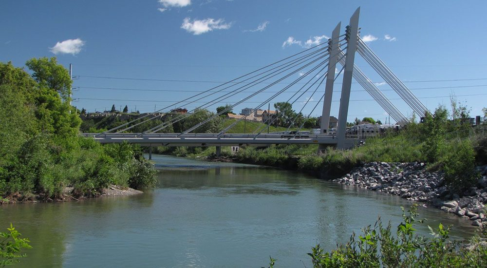 Elbow river and the stampede ground bridge wikimedia commons