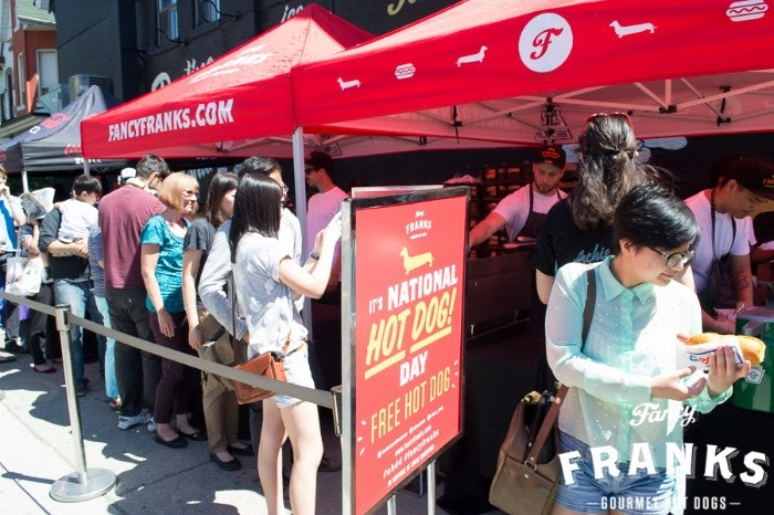 Fancy Franks is giving away FREE hot dogs tomorrow