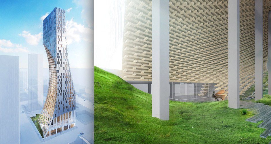 Kengo Kuma's 40-storey 'carved tower' in downtown Vancouver