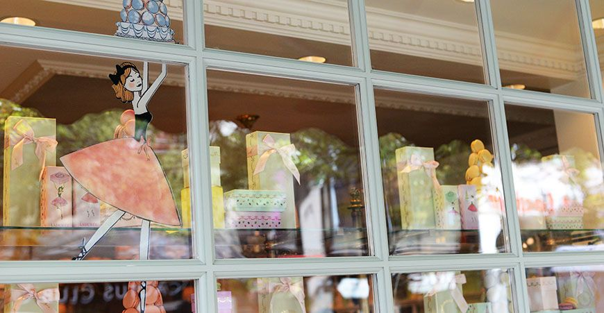 Ladurée reveals new ballet-inspired window for the summer