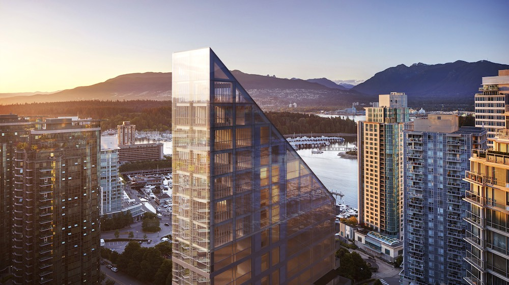 First glimpse of world's tallest hybrid timber building in Vancouver's Coal Harbour