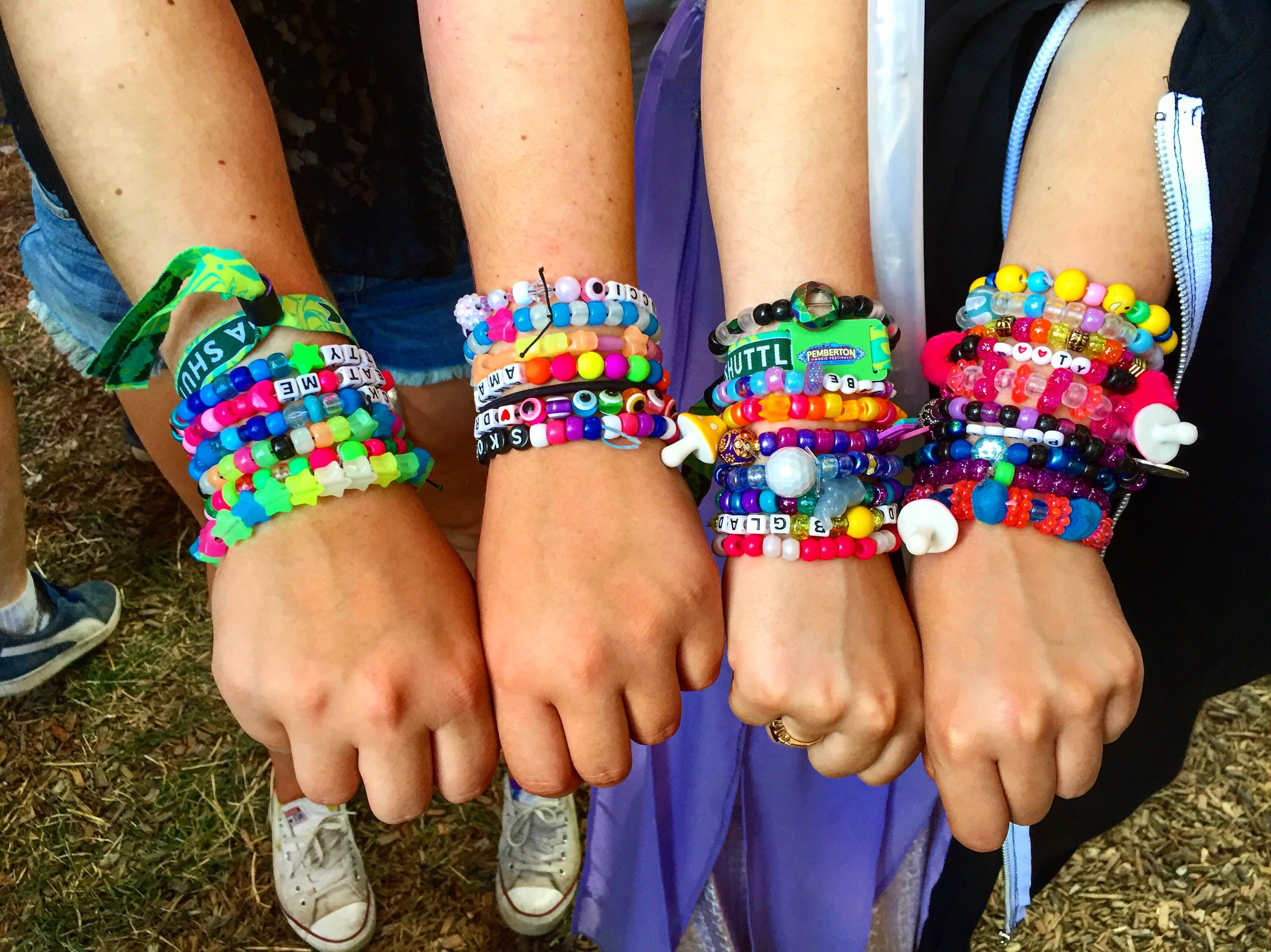 heyy bracelets pin his freak bracelet kandi rave ravers and music festival hers