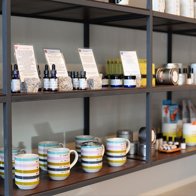 Retail section at Silk Road (Jess Fleming/Daily Hive)