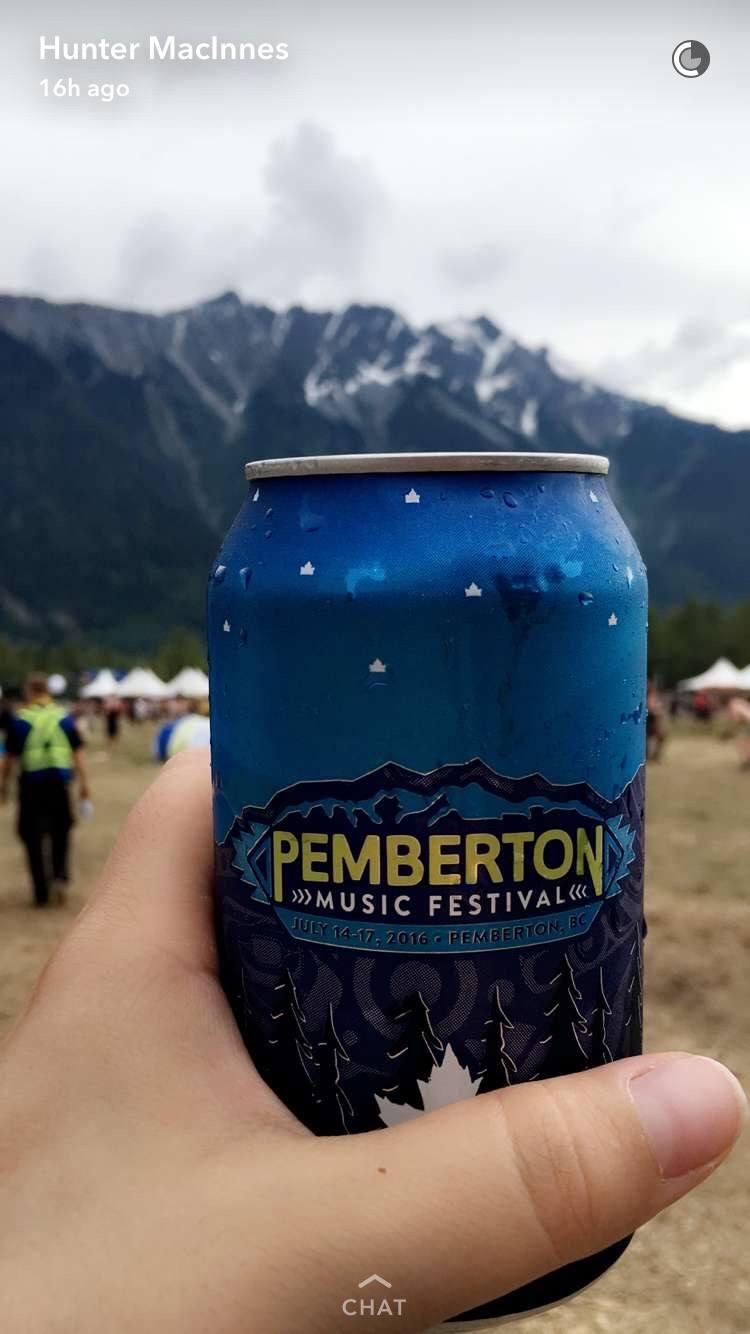 Beer at Pemberton Music Festival