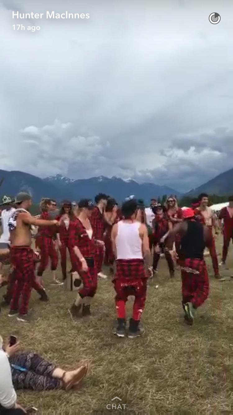 Plaid dancers at Pemberton Music Festival