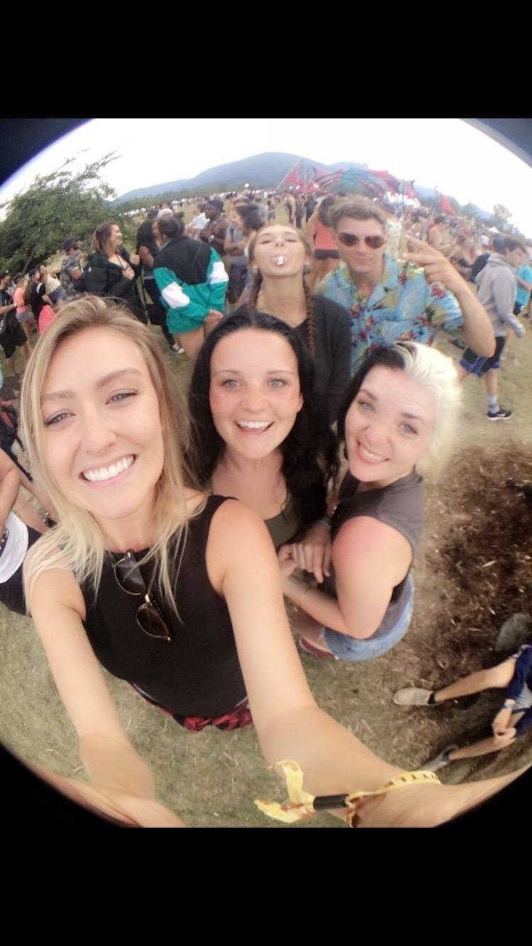 Happy people at Pemberton Music Festival