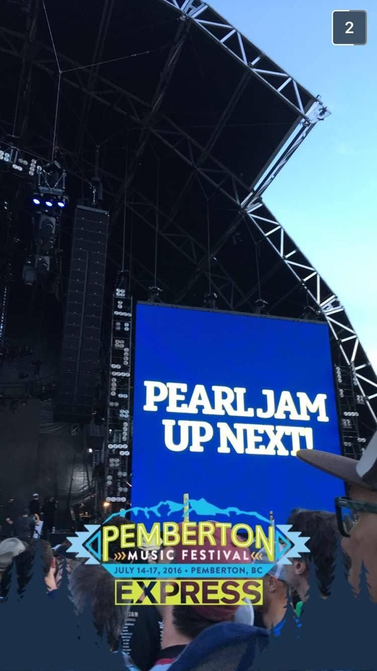 Pearl Jam at Pemberton Music Festival