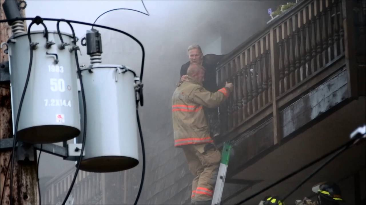 North vancouver apartment fire with balcony rescue