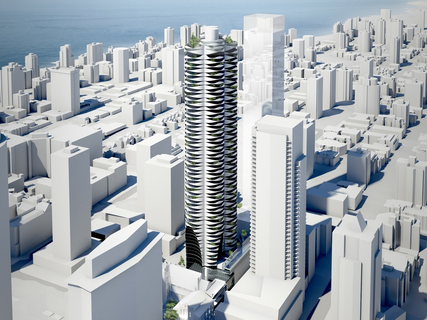 First Baptist Church to build 56 storey zebra like tower