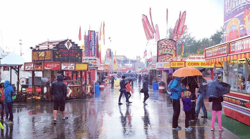 Calgary stampede rain weather