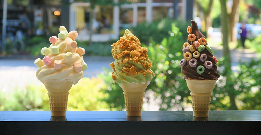 DiP Ice Cream now offering chocolate-dipped soft serve cones in Kitsilano