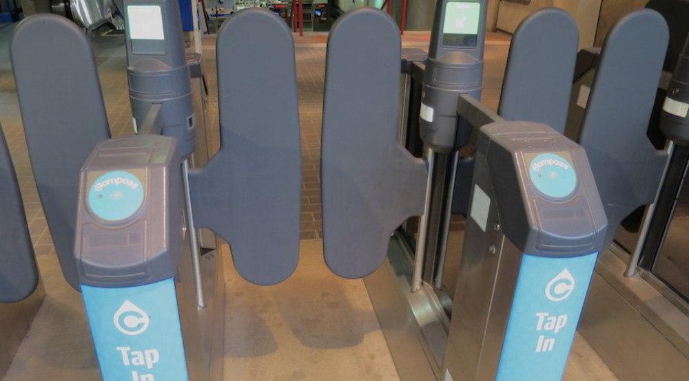 Translink skytrain fare gate