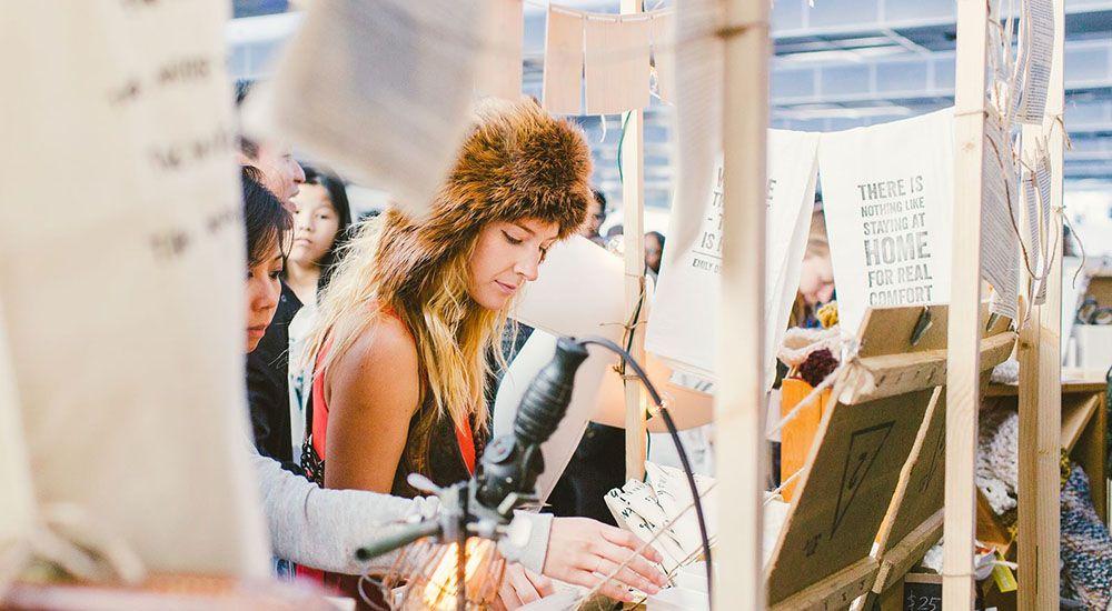 A shopper at etsy vancouver market 2015 etsy vancouverfacebook