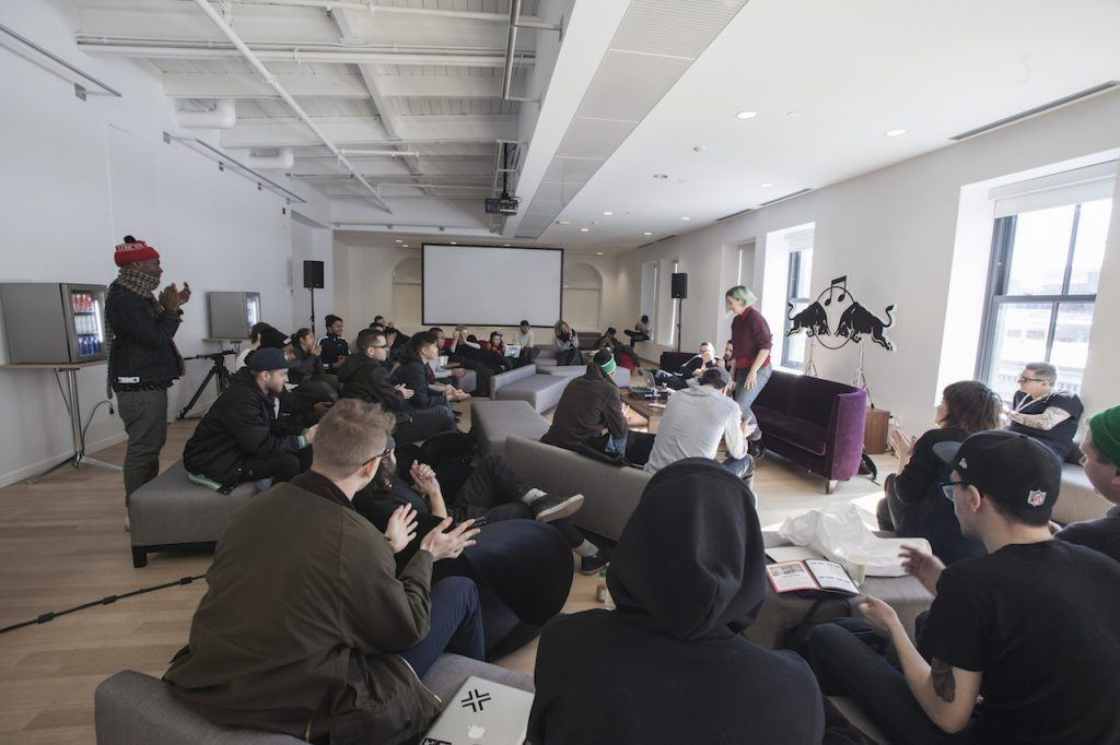 Participants during Red Bull Music Academy Bass Camp