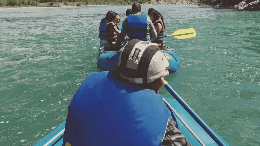 Summer activity idea: rafting the Bow River