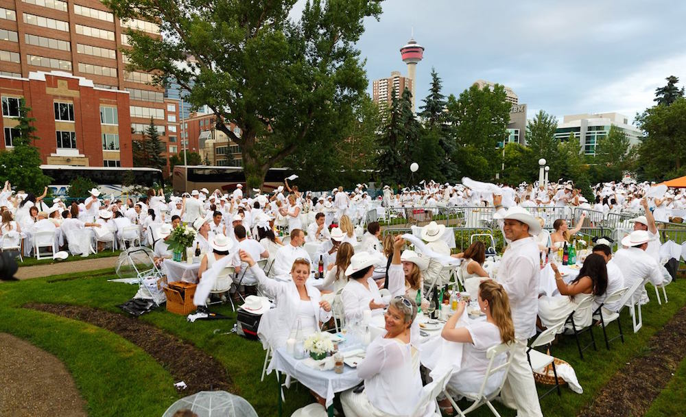 Dîner en Blanc returns to Calgary this summer