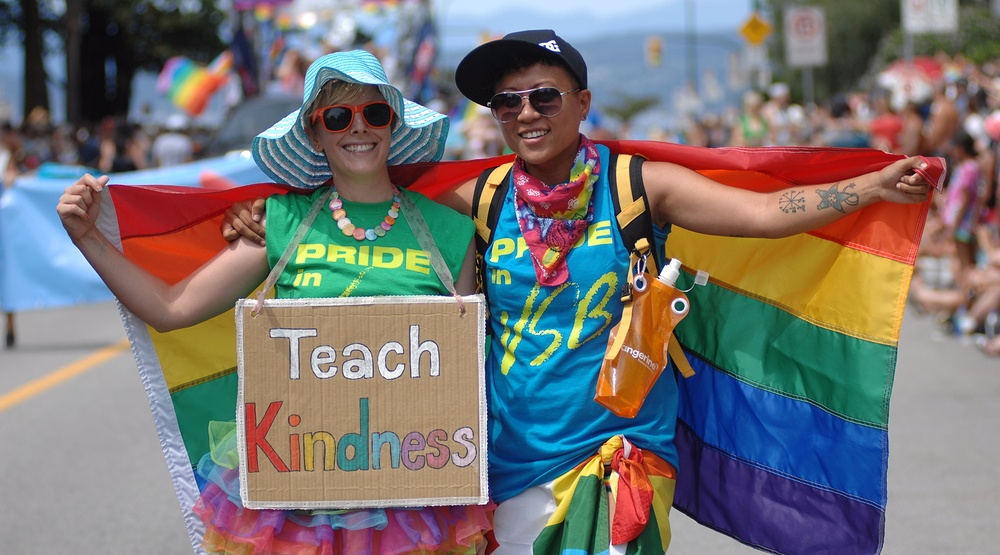 People participate in the annual pride parade and celebrations in vancouver shutterstock