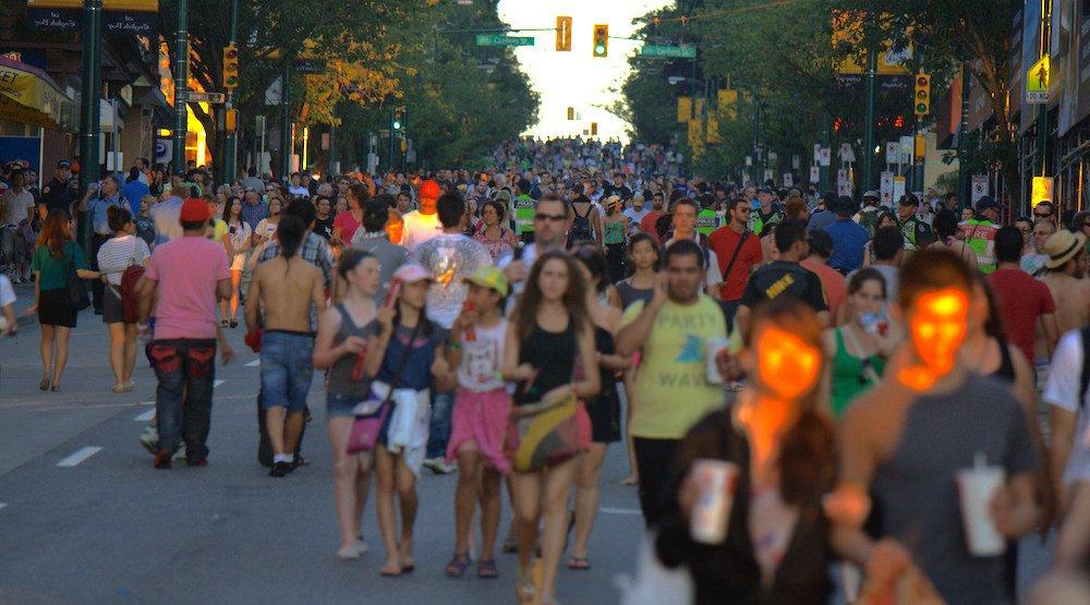 Celebration of light fireworks crowds vancouver