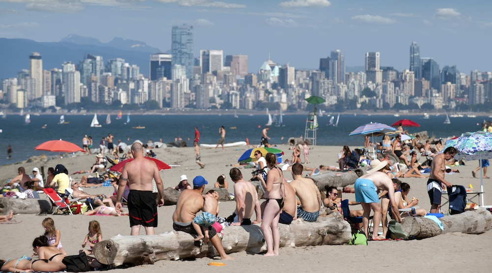 Vancouver beach weather hot summer