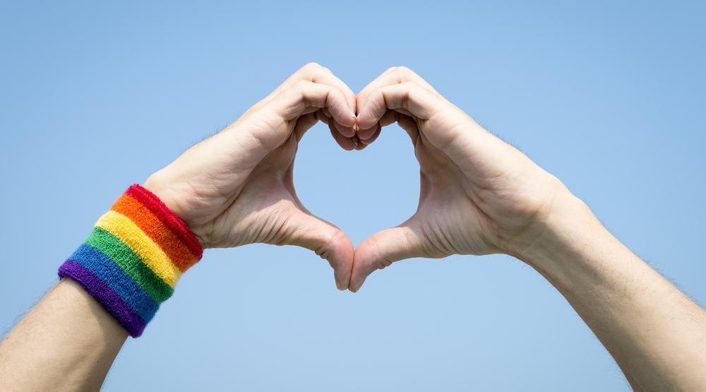 Gay pride lgbtq hands love