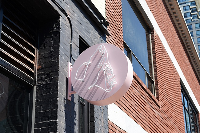 Tacofino Yaletown's new signage (Jess Fleming/Daily Hive)