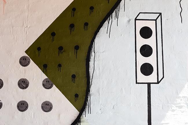 Wall mural at Tacofino (Jess Fleming/Daily Hive)