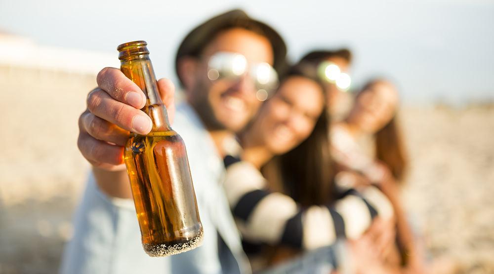 Beach beer bottle