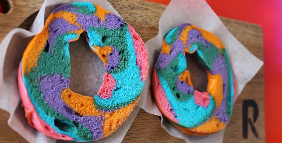 Yes, you can get Rainbow Bagels in Vancouver