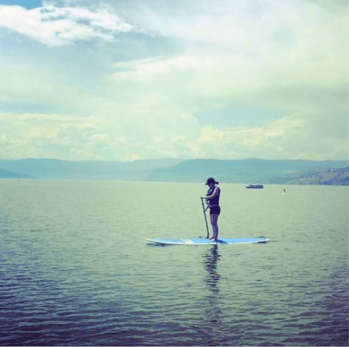 Skimming the surface at Okanagan Beach Rentals. Image: ta_payne