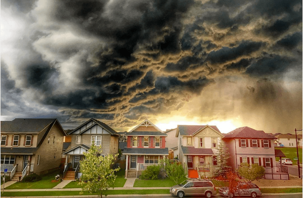 Storms rage through Alberta destroying property but also producing breathtaking pictures