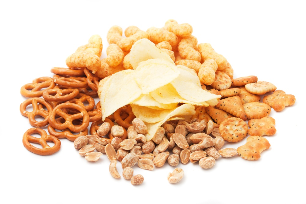 Salty snacks/Shutterstock