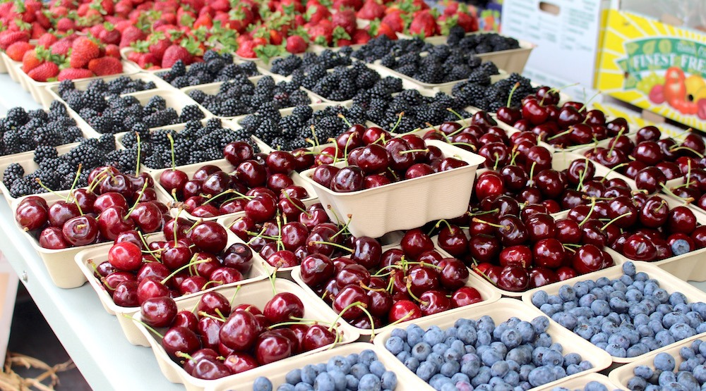 Local berries at the Whistler Farmers' Market (Lindsay William-Ross/Daily Hive)