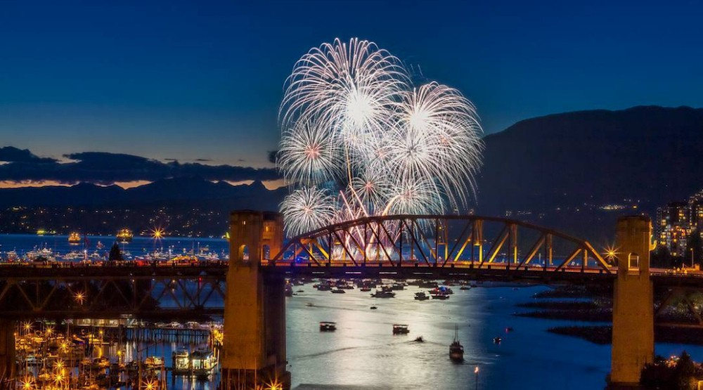 Celebration of light burrard bridge fireworks