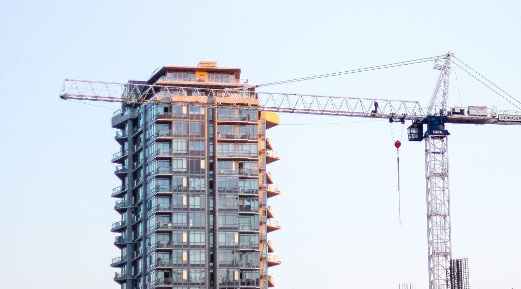 Condo construction in Vancouver (Caley Dimmock/Daily Hive)