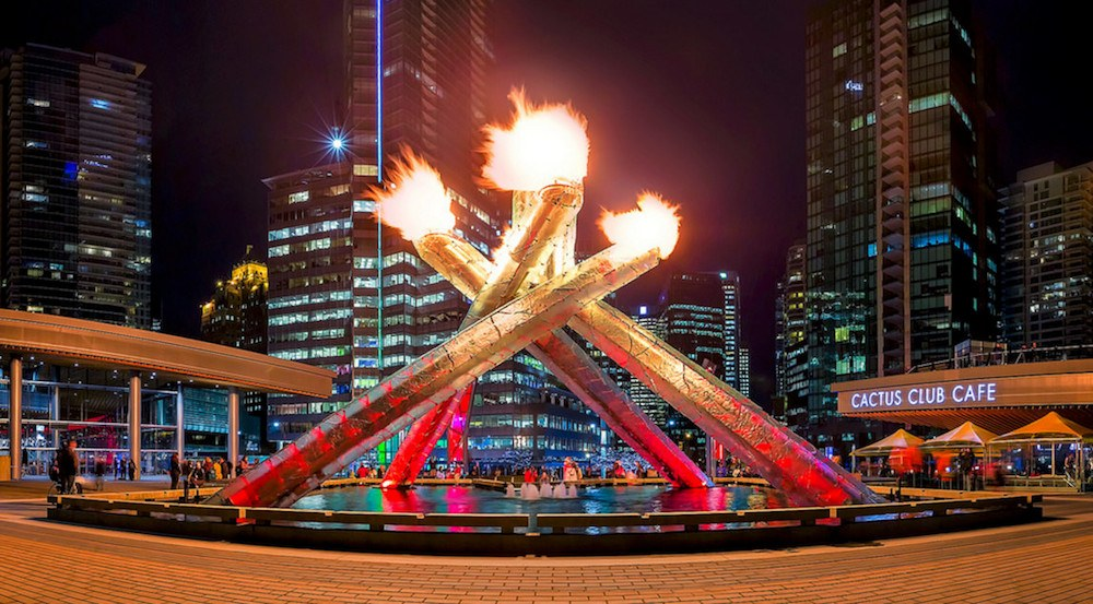 Vancouver olympic cauldron jack poole plaza1 : best olympic flame lighting - azcodes.com