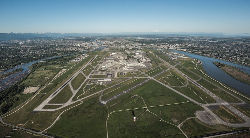 Vancouver international airport aerial