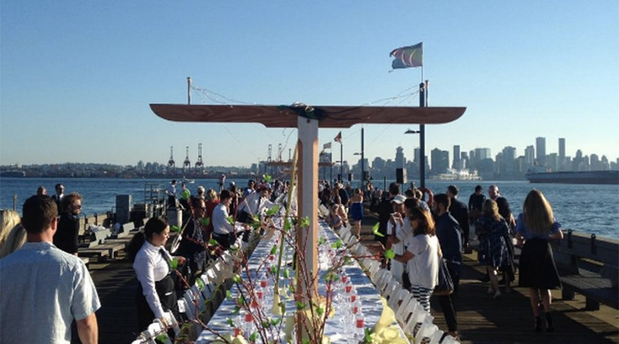 300 people pack North Vancouver's waterfront for Dinner on the Pier (PHOTOS)