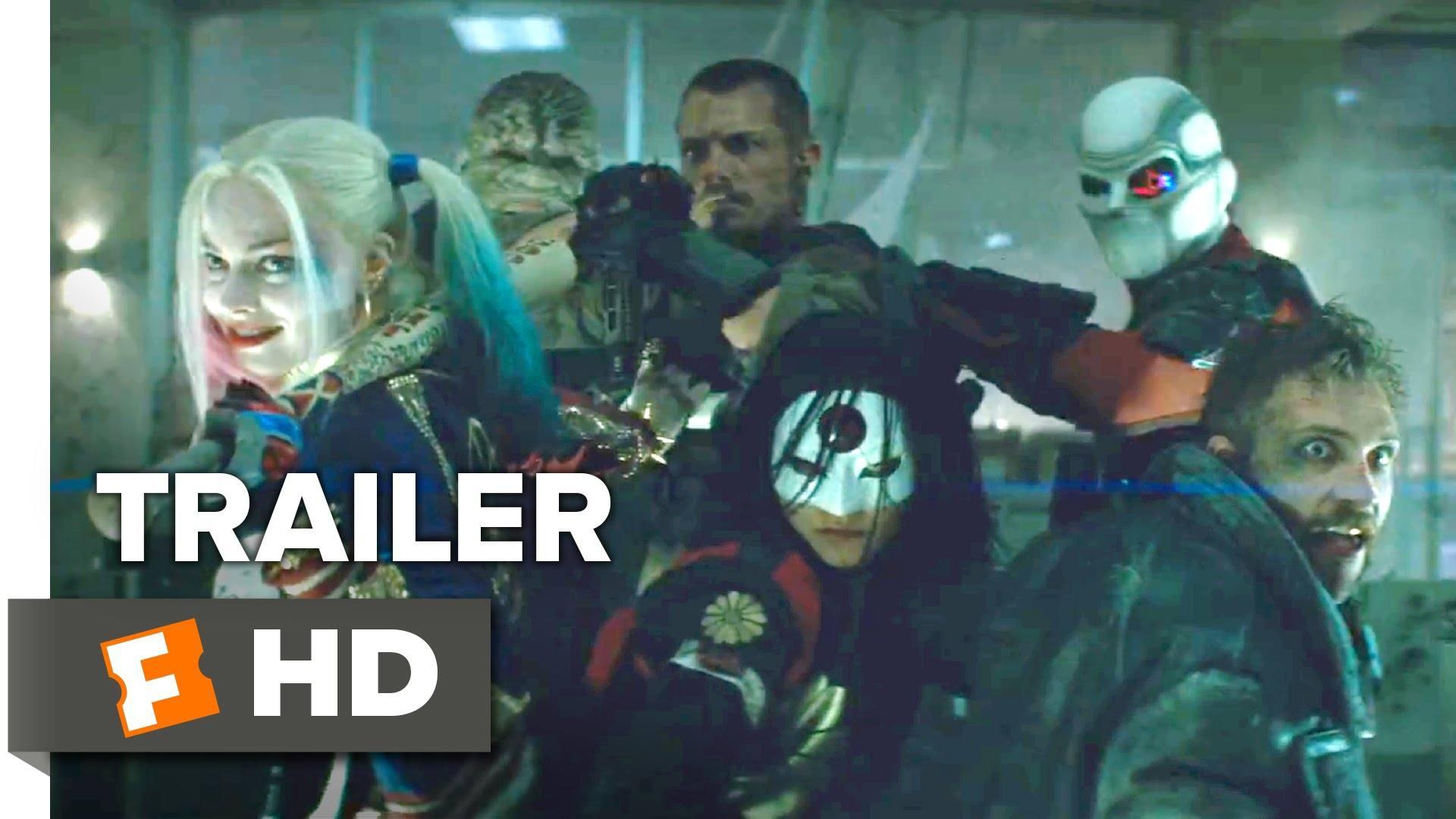 Suicide squad official comic con remix trailer 2016 margot robbie movie