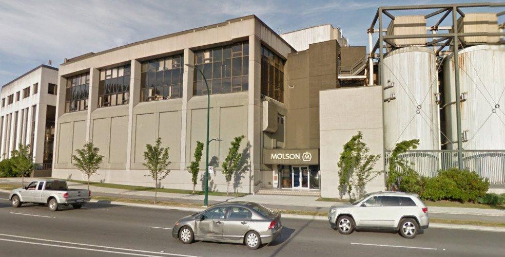 Molson vancouver brewery burrard street 984x500