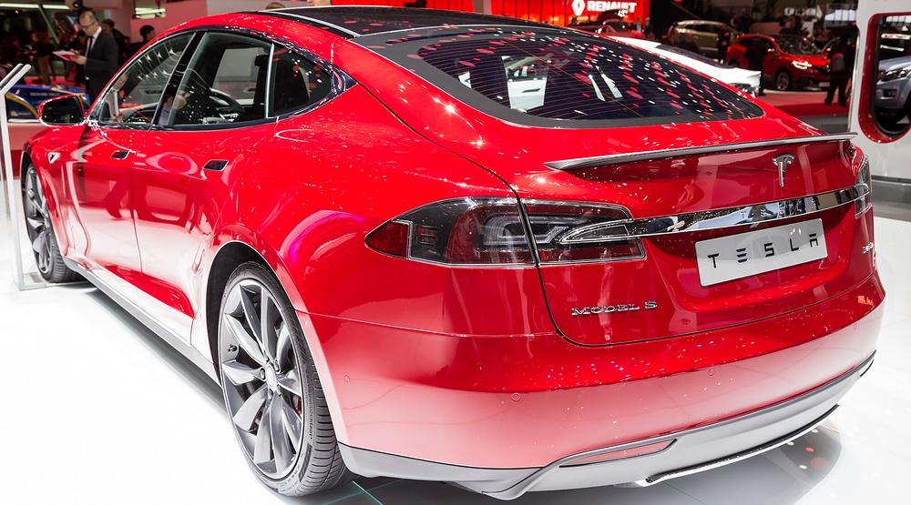 Tesla model s p85d presented at the 85th international motor show in geneva switzerland on march 3 2015 jia li shutterstock